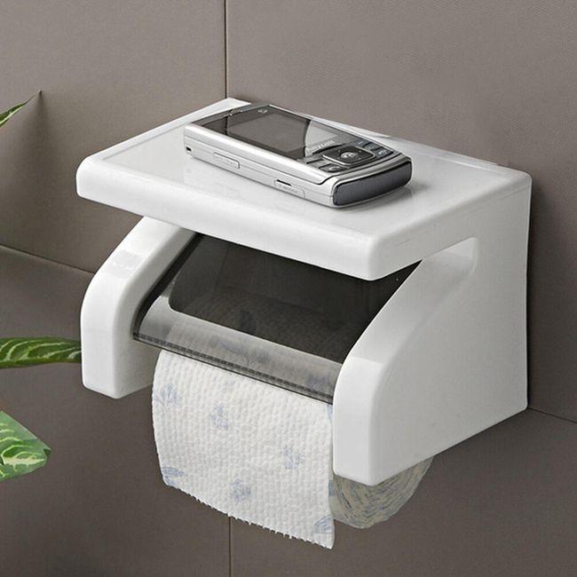Držalo za toaletni papir s polico 1