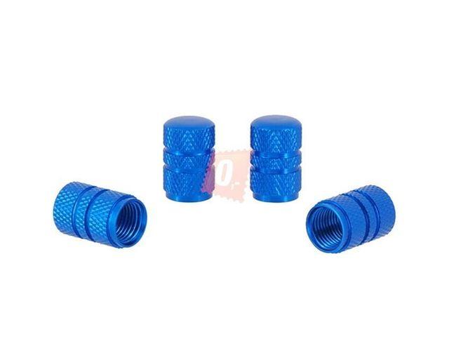 Ozdobné čepičky ventilků 4ks - modré 1