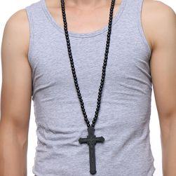 Pánský náhrdelník s křížem - 4 barvy