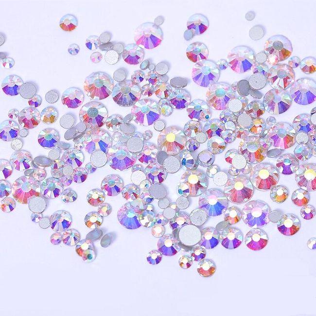 Dekorativni kamenčići u obliku dijamanta - 800 komada - više boja 1