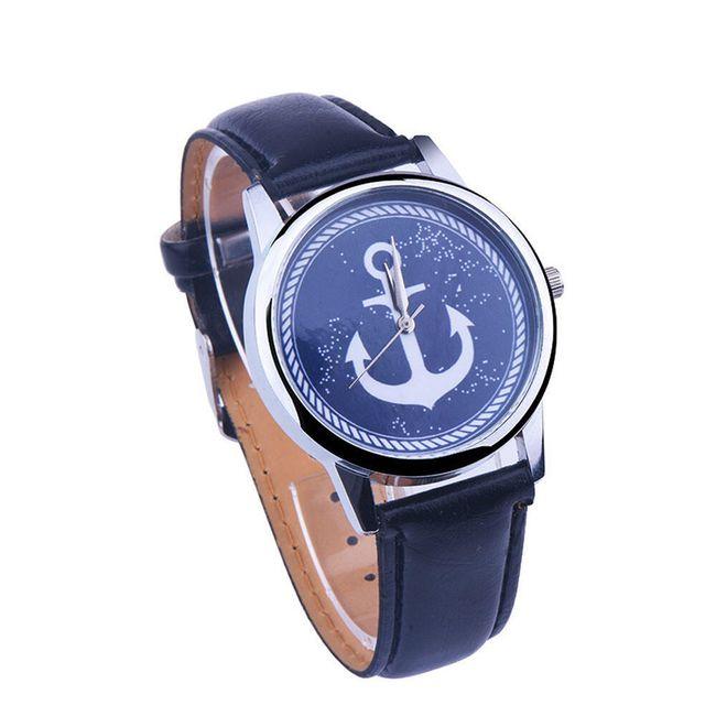 Dámské hodinky zdobené kotvou 1