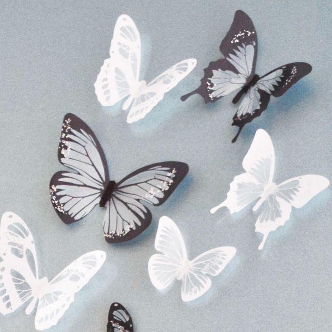 3D nalepovací motýlci 1