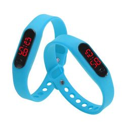 Ръчен часовник със силиконова каишка и LED циферблат - повече цветове