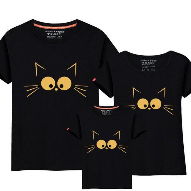 Tričko s kočkou pro mamku, tátu a děti 1