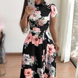 Дамска дълга рокля на цветя - 3 варианта