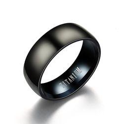 Černý pánský prsten