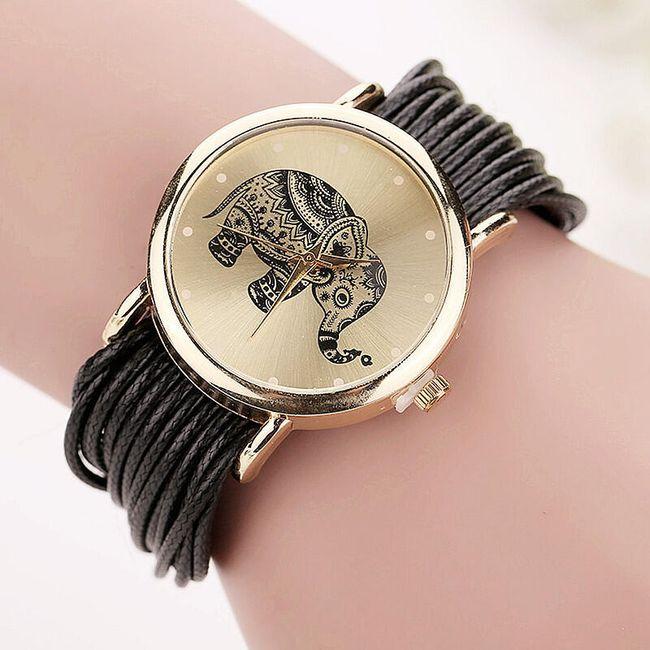 Ročna ura z motivom slona - 10 barv 1