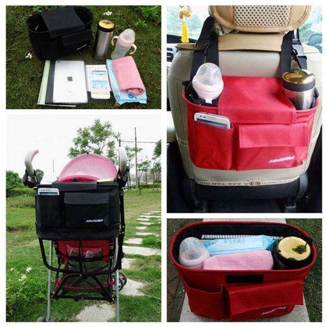 Многофункциональная сумка в машину и коляску 1