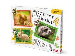 Puzzle SET 4 mláďatká V LESE PD_1174160