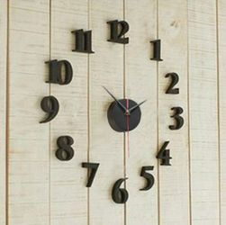 Ceas negru pentru perete