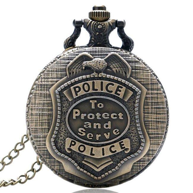 Vintage kapesní hodinky pro policisty 1