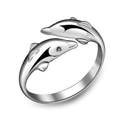 Állítható delfin gyűrű