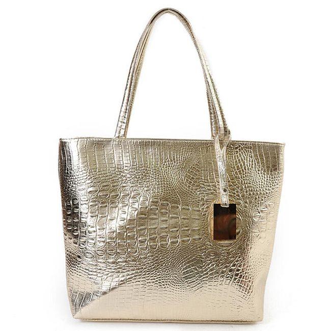 Dámská kabelka s krokodýlím vzorem - 3 barvy 1
