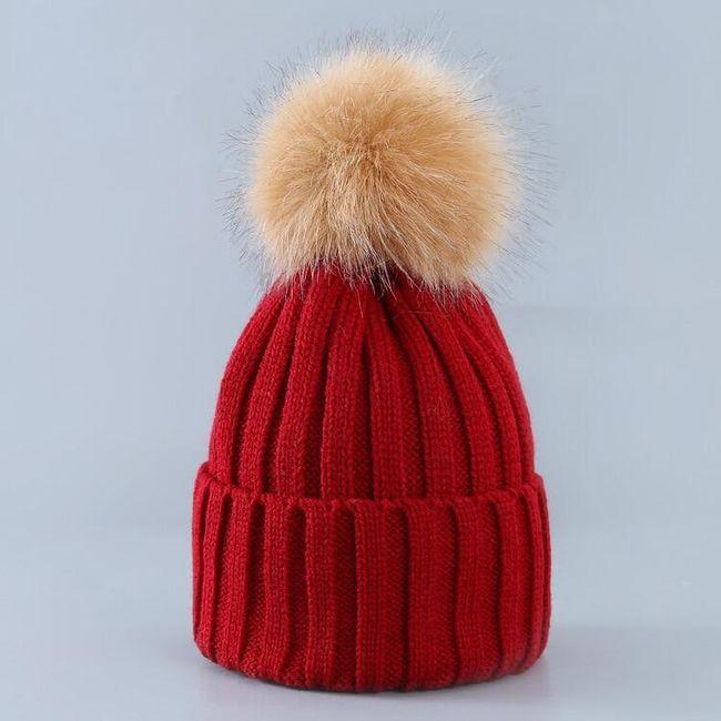 Ženska zimska kapa sa kikicom June 1