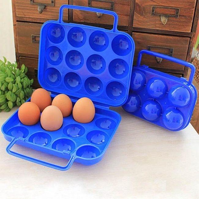 Plastična škatla za jajca - 6/12 mest 1