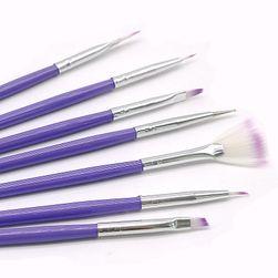 Set vijoličnih čopičev za nohte