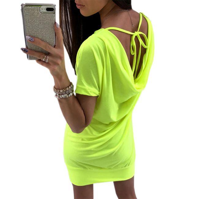 Mini šaty v neonové barvě - 2 barvy 1