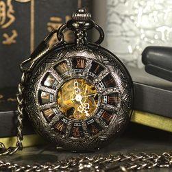 Zseb mechanikus óra római számokkal
