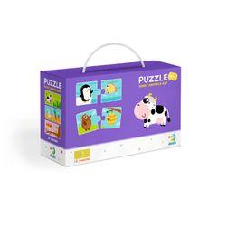 Puzzle Duo Co jedí zvířátka -12x2 dílků RZ_240196