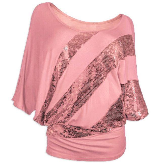 Volné tričko s flitry - 13 barev 1