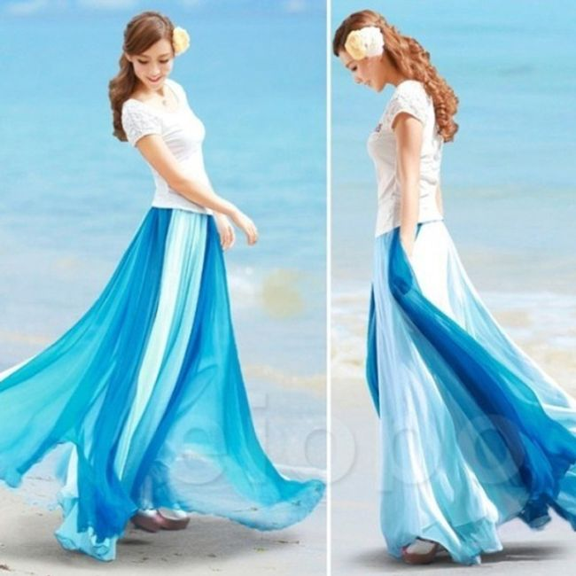 Dámská univerzální sukně Ailee - Modrá-L 1