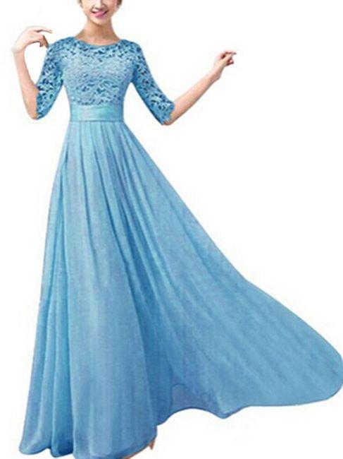 Dolga svečana obleka s čipkami 1