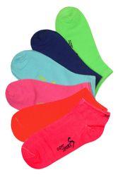 Neon - Șosete gleznă pentru femei XW2603- 3 perechi diverse culori TS_4514