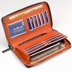 Prostorná peněženka s prošíváním - 3 barvy