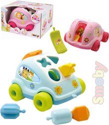 Cotoons Baby auto vkládačka autíčko vkládací telefon tahací 2 barvy plast SR_115686