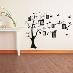 Стикер за стена - дърво с фото-рамки