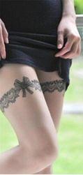 Ideiglenes tetoválás masnival