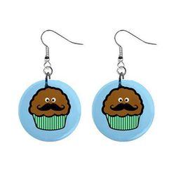 Fülbevalók - Muffin bajuszával