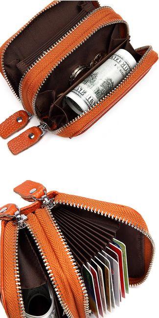 Praktikus pénztárca két cipzárral - 11 szín - Női pénztárcák - Női ruházat - Divat