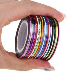 30 de benzi decorative pentru unghii