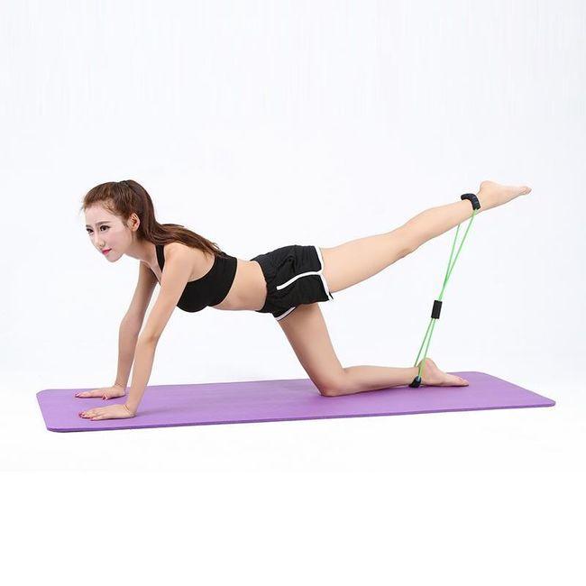 Posilovací fitness guma na cvičení 1