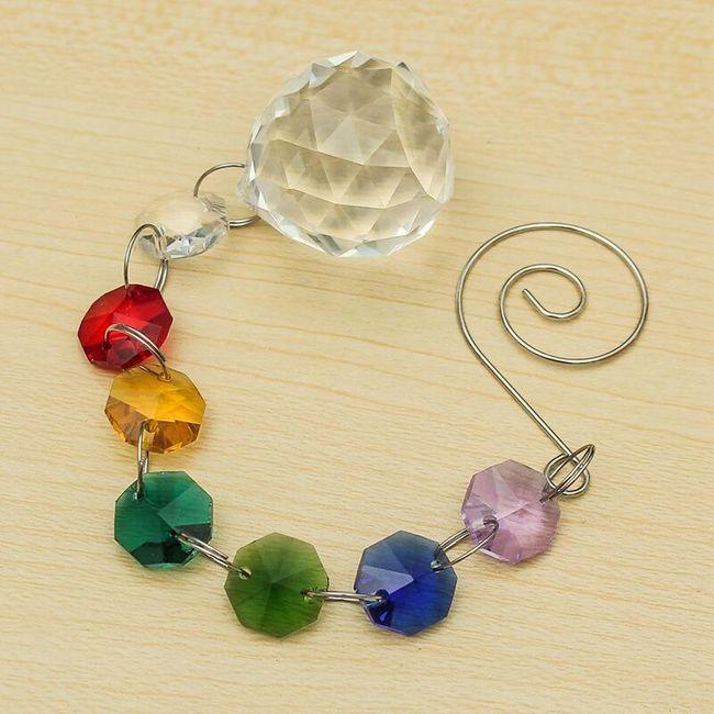 Duhový kamínkový náramek 1