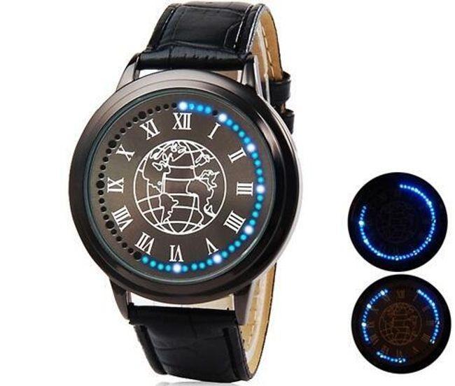 Pánské LED hodinky s koženým páskem 1
