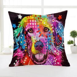 Povlak na polštář - Abstraktní obrazy psů