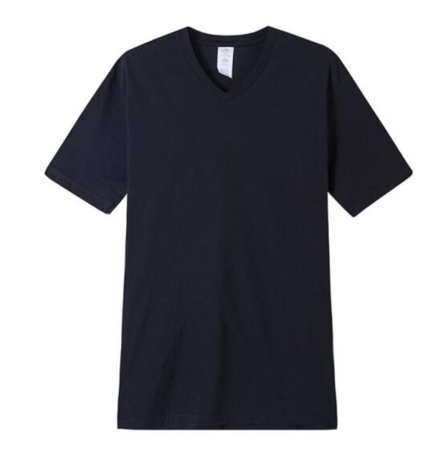 Tričko bez potisku s výstřihem do V 1