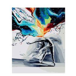 Obraz DIY według numerów - abstrakcyjna baletnica