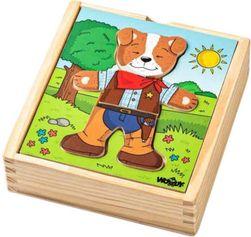 WOOD Baby puzzle gardrób kutya 18 db * FA JÁTÉK * SR_862364