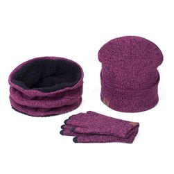 Zimski komlpet - kapa, šal, rukavice