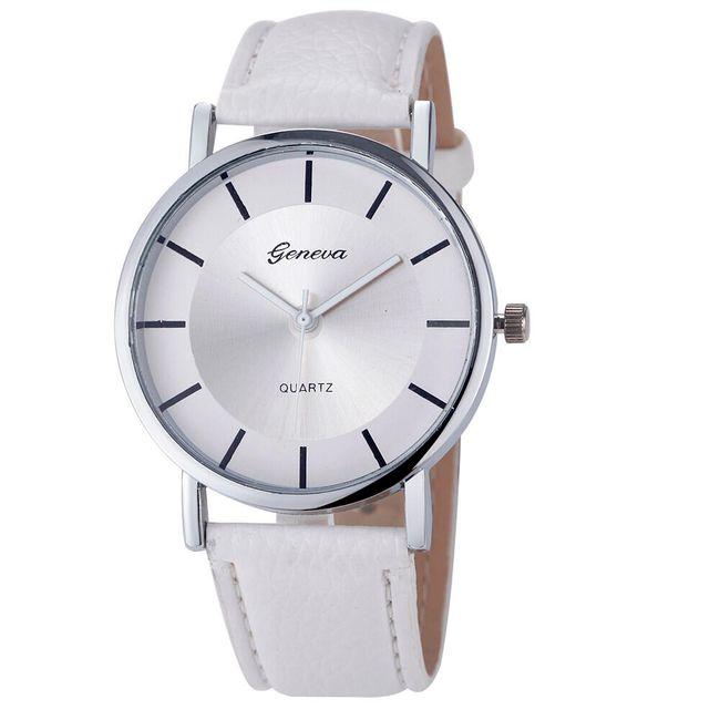 Dámské hodinky s jednoduše řešeným ciferníkem - 6 barev 1