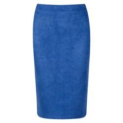 Semišová obtažená sukně - Červená - 3