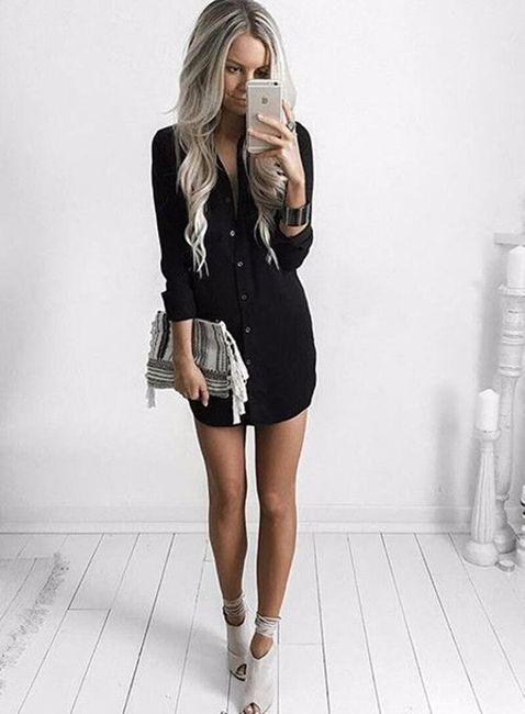 Farklı renklerde gömlek elbise 1