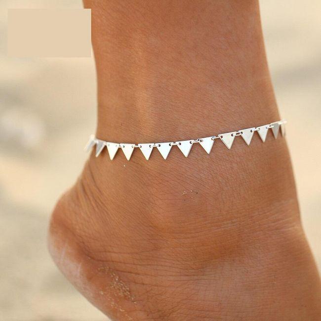 Trojúhelníčkový náramek na nohu - 2 barvy 1