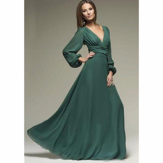 Dlouhé dámské šaty Aja 1
