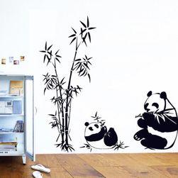 Autocolant pentru perete - panda cu bambus