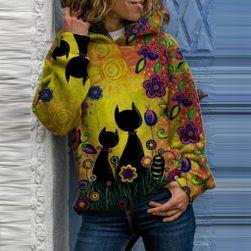 Ženski pulover s kapuco TE629