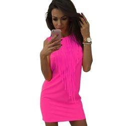 Дамска пъстроцветна мини рокля - различни цветове